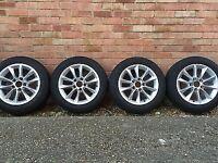 BMW V Spoke 411 Alloy Wheel Set + Goodyear UltraGrip Performance 2 Winter Tyres