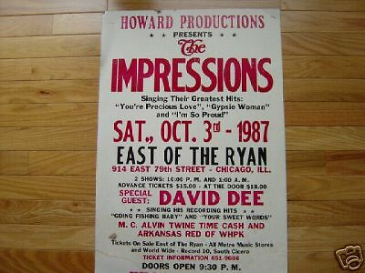 The Impressions boxing style poster Chicago soul show