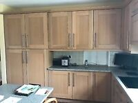 Oak Shaker style kitchen, work tops and appliances