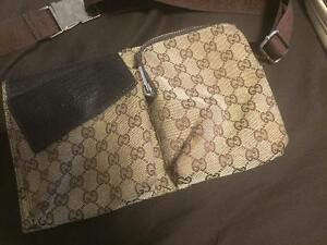 Pouch/ waist or chest bag Gucci style