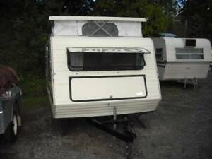 "1988 Jayco 14'11"" POPTOP CREAM AND FAWN FOR SALE ON SUNSHINE COAS"