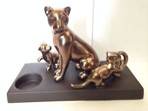 PartyLite majestic pride lion and cubs tea light holder