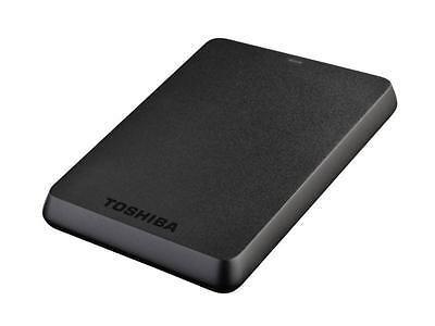 "Toshiba 2TB Stor.E Basics USB 3.0 2.5"" Portable External Hard Drive HDD Black"