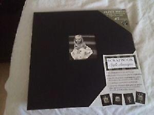 """Livre scrapbook NEUF 45 sheets black 14"""" X 14"""" noir feuille"""
