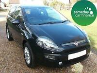 £107.76 PER MONTH BLACK 2010 FIAT PUNTO EVO 1.4 ACTIVE 3 DOOR MANUAL PETROL