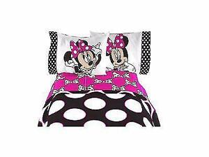 Disney Minnie Mouse Twin Sheet 3 Pcs Set Official Licensed