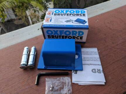 Oxford Brute Force Motorbike Motorcycle Sold Secure Ground Anchor