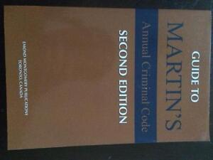 POLICE FOUNDATIONS TEXTBOOK - MARTIN'S CRIMINAL CODE