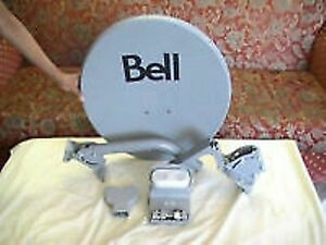 Bell antenna dish, stand, parts