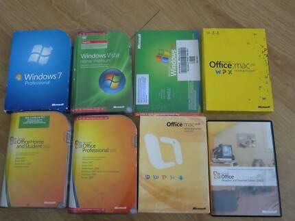 Windows Vista,7, XP, Office for Mac and Windows