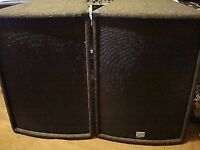 """NJD 15"""" N15 300 WATTS RMS EACH PA SPEAKERS AT A FANTASTIC PRICE !!"""