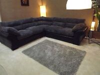 SCS BLACK LARGE CORNER SOFA AS NEW CAN DELIVER FREEEEE