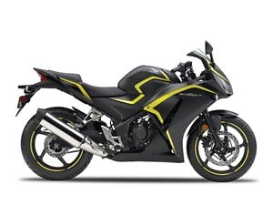 2015 Honda CBR 300R Matte Black Metallic Yellow