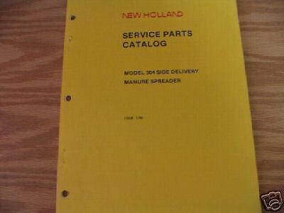 New Holland 304 Manure Spreader Parts Catalog