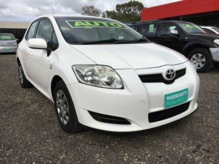 2008 Toyota Corolla ZRE152R Ascent White 4 Speed Automatic Hatchback Elizabeth West Playford Area Preview
