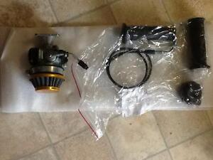 NEW Racing Carb & Throttle with cable & grips.
