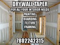 Drywall taper...
