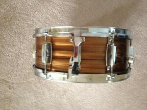 Root Beer Swirl Wood Snare Drum Great Condition Still 4 Sale