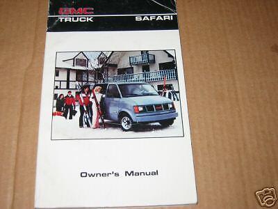 1986 GMC SAFARI VAN OWNERS MANUAL 86 OWNER'S NEW 1986 86 Gmc Safari Van