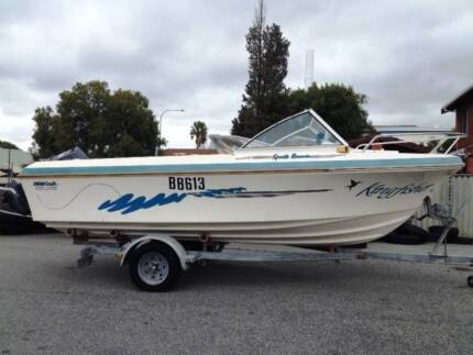 PRE OWNED 5.3MTR KINGCRAFT SPORTS RUNNER - NOW REDUCED.