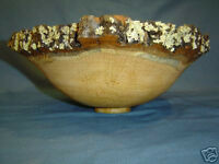 fine SOLID OAK NATURAL unfiished ART BOWL