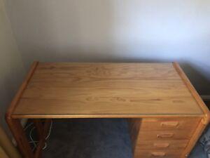 Timber desk and cupboard Peakhurst Hurstville Area Preview