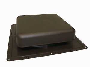 Brown Roof Louver - High Impact Resin Plastic - Brand New