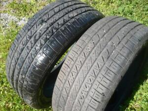two 215-45-18  tires  $130.00