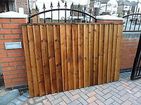 Heavy Duty Brown Treated Fence Panels