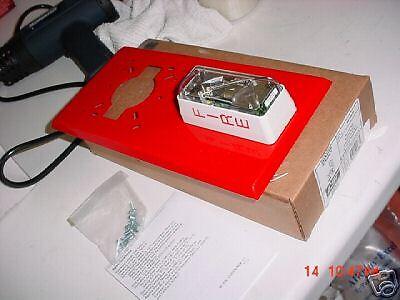 Est 403-5a-r Bell Strobe Light Adaptor Plate Fire Alarm Sys