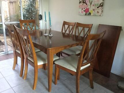 Wooden dining table extension 6 chairs Dining Tables