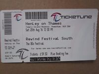 Henley Rewind ticket - Saturday...