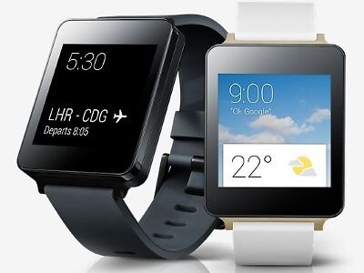 The LG G Watch and the Apple Watch