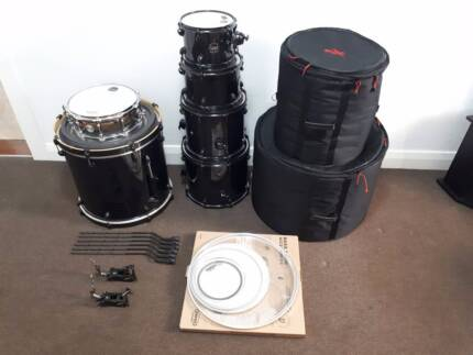 Mapex Armory 6pc. w/Tomahawk Snare, Evans EC2, Emad, & more