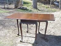 drop leaf table ball claw feet 4 chairs