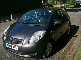 TOYOTA YARIS TR D-4-D DIESEL 2008 GREY. 87200 MILES FULL SERVICE HISTORY. NR MINT CONDITION.