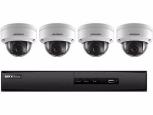 HIKVISION CCTV IPTV 1080P 2MP DOME SECURITY CAMERA KIT 4 CHANNEL NVR $749.99, 6 CAMER KIT 8 CHANNEL NVR $1199.99