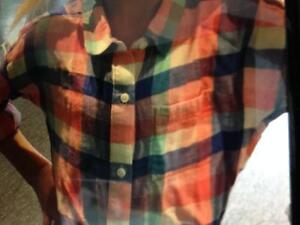 WANTED Girls medium plaid shirt from Old Navy