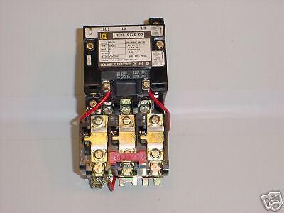 SQ-D NEMA SIZE OO STARTER 3POLE 120V COIL (NEW)