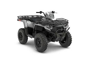2018 Polaris Sportsman 450 H.O. Utility Edition Ghost Gray