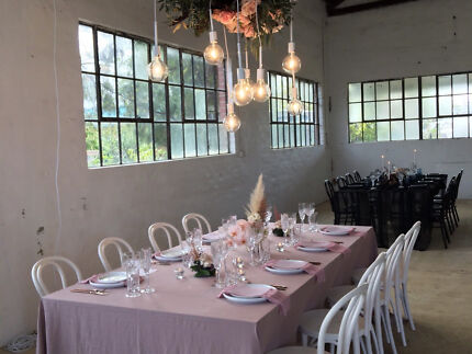 HIRE: Tiffany chairs  Wooden Tables Arbor Plate Cutlery From $3