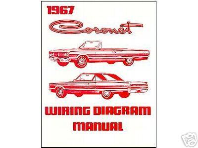 1967 67 DODGE CORONET WIRING DIAGRAM  MANUAL