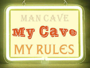 MAN CAVE MY CAVE MY RULES NEON SIGN