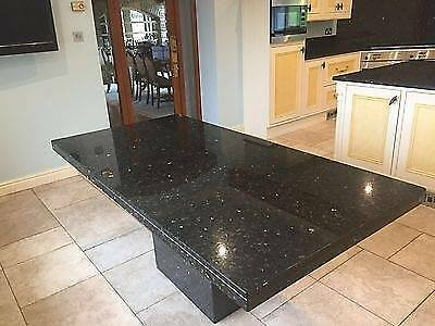 large 6 8 seater solid granite kitchen dining table island black