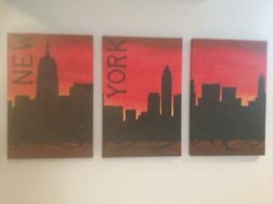 new york skyline modern art