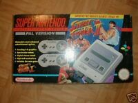 Street fighter snes console
