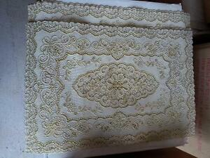 Set of 6 gold tone placemats table mats London Ontario image 2