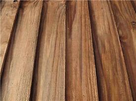 100 X Close board panel slats feather edge panel board 112 cm long X 100 mm wide