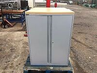 TRIUMPH 2 DOOR SILVER / LIGHT OAK FILING CABINET