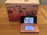 Coral Pink 3DS with games Boxed